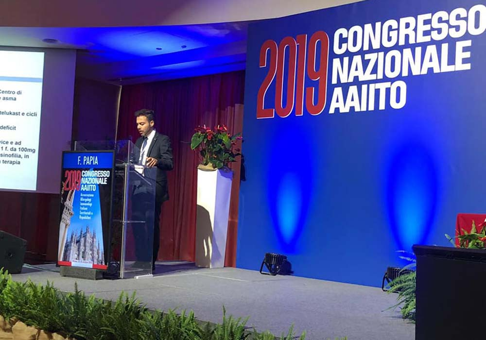 Dott. Francesco Papia Allergologo e Immunologo al Congresso Nazionale AAIITO 2019