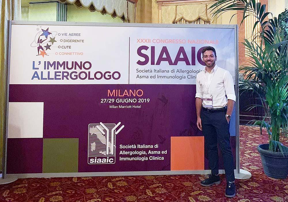 Dott. Francesco Papia al XXXII Congresso Nazionale di Allergologia e Immunologia Clinica SIAAIC 2019
